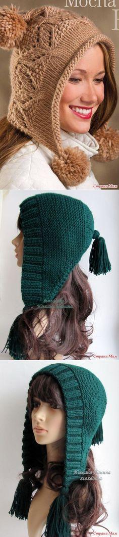 stranamam.ru [] #<br/> # #Knitting #And #Crocheting,<br/> # #Knitting #Hats,<br/> # #Knit #Hats,<br/> # #Hoods,<br/> # #Radios,<br/> # #Cap #D Knit Mittens, Knitted Hats, Knit Crochet, Crochet Hats, Arm Knitting, Scarf Hairstyles, Knitting Patterns Free, Crochet Clothes, Inspiration