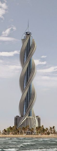 Check out this architecture! Diamond Tower, Jeddah, Saudi Arabia designed by Buruoj Engineering Consultant :: 93 floors, height Architecture Unusual Buildings, Interesting Buildings, Amazing Buildings, Modern Buildings, Unusual Houses, Famous Buildings, Steel Buildings, Modern Houses, Architecture Unique