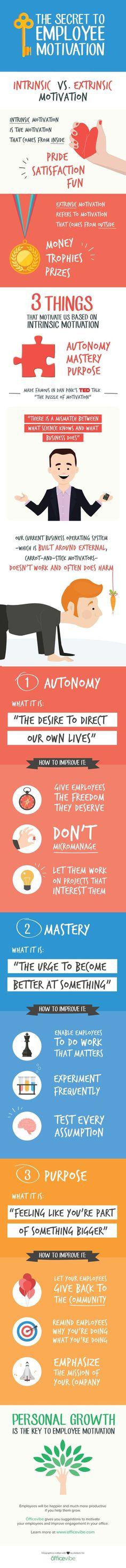 The Secret To Employee Motivation Employee motivation,motivation