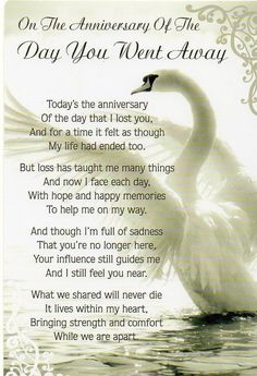 One Year Death Anniversary Invitation Grief Poems, Mom Poems, Anniversary Of Death Quotes, 25 Anniversary, Mom In Heaven Quotes, Remembering Dad, Funeral Poems, Sympathy Quotes, Sympathy Cards