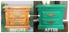 before and after: transform a dated nightstand with paint