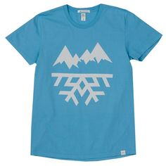 The Mountain Label by Christopher Bettig in aqua