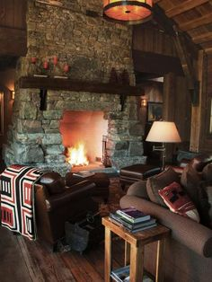 From rustic wood beams to crackling fireplaces, grab a cup of hot chocolate and snuggle up in one of these cozy spaces. Browse pictures on HGTV.com.