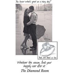 """""""Rainy Day Engagment"""" by the-diamond-room on Polyvore"""