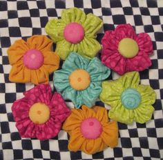 Image detail for -May Garden of Fun Little Fabric Flowers and a Giveaway |