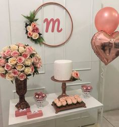 first birthday decorations ideas 18th Birthday Party, Mother Birthday, 75 Birthday Party Ideas, Simple Birthday Decorations, Its My Bday, Gold Party, First Birthdays, Rose Gold, Mini Party