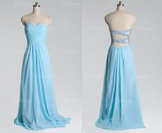light blue dress blue prom dress long prom dress by fitdesign, $128.00 - Elsa from Frozen cosplay
