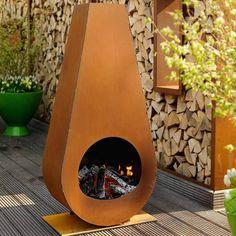 acier corten cheminee exterieure