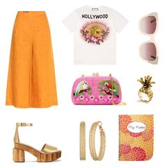 """""""Orange"""" by irissaa997 ❤ liked on Polyvore featuring Serpui, Loro Piana, Gucci, Tory Burch, GUESS and Ann Taylor"""
