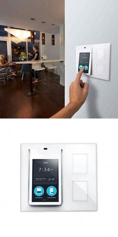 On the cutting edge of home automation, the Wink Relay is designed to replace a light switch on the wall and keep your smartphone in your pocket. It controls and monitors everything in your connected home from one central location. Click through to learn Home Automation System, Smart Home Automation, Home Design, Smart Home Technology, Security Technology, Take You Home, Wireless Security, Home Gadgets, Home Network