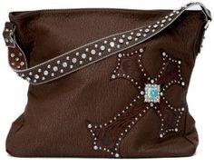 Blazin Roxx M Blazin Roxx Brown Faux Leather w/Turquoise Accented Cross Purse $59.00