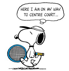 Snoopy - The World Famous Tennis Champion at Wimbledon