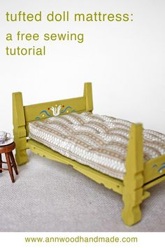 doll furniture doll house bed tutorial part 2 : making the mattress ann wood handmade Mini Doll House, Barbie Doll House, Miniature Furniture, Dollhouse Furniture, Diy Mattress, Diy Barbie Furniture, Diy Dolls House Furniture, Doll House Crafts, Doll Houses