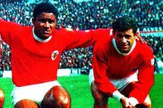 Eusébio e Simões no Benfica