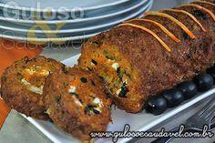 Rocambole de Carne Light » Carnes, Receitas Saudáveis, Tortas e Bolos » Guloso e Saudável