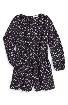 Soprano Ditsy Floral Print Romper (Big Girls) available at #Nordstrom