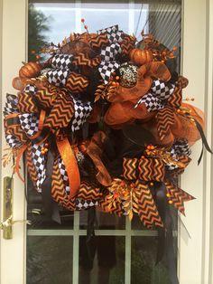 Couture Halloween Mesh Wreath  Fall Wreath  by TisASeasonDotCom, $134.99
