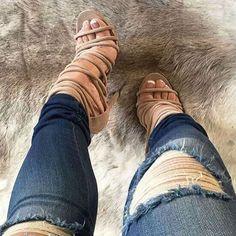 Multi Strap Sandal Heels