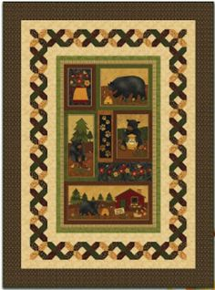Honey Comb Bear Paws Panel Quilt - Finished Sample