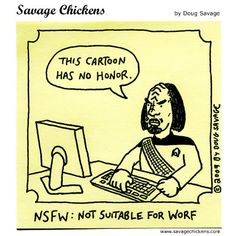 Savage Chickens NSFW: not suitable for worf Star Trek Meme, Star Wars, Dc Movies, Marvel Movies, Nerd Memes, 90s Memes, Nerd Humor, Star Trek Party, Savage Chickens