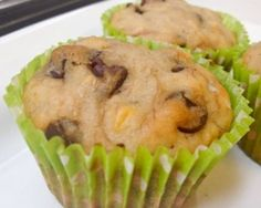 6 Delicious Muffin Recipes-Roasted Banana Chocolate Chip Muffins