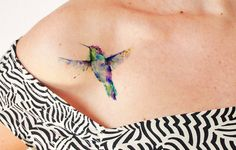 Wind dancer watercolor - Temporary tattoo