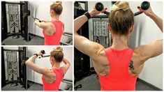 This is one of my favorite exercises for working your rear shoulders and upper back. If you're stuck at a desk for long periods of time, this is an Back And Shoulder Workout, Shoulder Day, Gym Back Workout, Gym Workouts, Workout Routines, Workout Ideas, Toned Tummy, Toned Arms, Face Pull Exercise