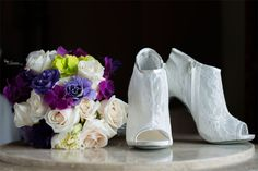Lace wedding shoes   Sivan Photography   Orlando Wedding Photographer