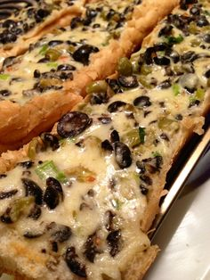 Pioneer Woman's Olive Cheese Bread! Very delicious!!!