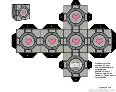 Awww the #weighted_companion_cube. Perhaps the easiest thing to make from #cubecraft