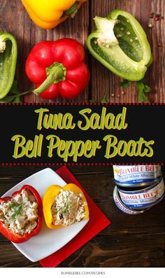 PALEO TUNA SALAD BELL PEPPER BOATS: Skip the carbs and enjoy these yummy bell pepper boats featuring Bumble Bee:registered: Tuna.