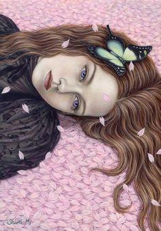 Shiori Matsumoto - petal girl with violet eyes