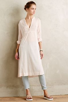Embroidered Gauze Tunic #anthropologie