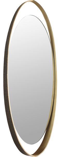 The LeLoop Mirror is one of those rare but riveting objects that finish a room. It is big enough to fill wall space but proportioned to work in an entryway or a landing.