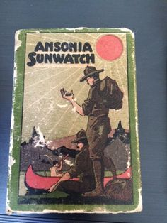 Antique 1920's Boy Scout Ansonia Clock Co Sunwatch Brass Pocket Sundial Compass, Complete by PaintedLadyAntiques on Etsy