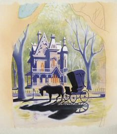 """Lady and the Tramp concept art. Another one of my favorite Disney movies...Can you consider it your """"favorite"""" if you have like 8 others?"""