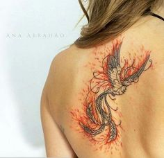 Absolutely love this. It's not overdone with color like many phoenix tattoos and is perfectly simple imo