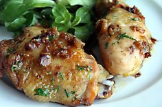This is a staple in our house and my sisters. They call it fancy chicken. roast chicken with caramelized shallots by daveleb, via Flickr