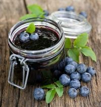 Lacto fermented Blueberry Jam. 2 lb berries, 3/4 c honey or Sucanat, 2 tsp sea salt, 1/3 c whey from yogurt or kefir. Mix first 3  ing in a sauce pan, simmer 5 min- smashing. Transfer to jars,leave at room temp 2 days (burp the jars) transfer to cold storage, keeps up to 2 months.