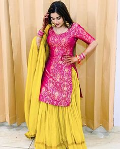 Rakhi collection Brocade kurti with sarara for more details dm or whatsapp on 😊👜👡👒👗💍💄👛👝  Indian Bridal Fashion, Indian Wedding Outfits, Indian Outfits, Bridal Outfits, Wedding Dresses, Pakistani Dresses, Indian Dresses, Pakistani Couture, Punjabi Dress Design