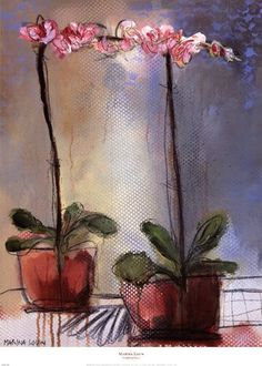 Evive Designs Orchid and Lace I by Marina Louw Painting Print Watercolor Pattern, Watercolor Flowers, Painting Flowers, Painting Prints, Watercolor Paintings, Floral Paintings, Grace Art, Great Paintings, Still Life Art