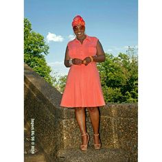 Peachy Fit & Flare Dress JDProfiles100  Photo cred:  @impact2436