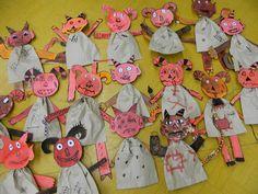 Čerti z papírových pytlíků Advent, Christmas Crafts, Crafts For Kids, Projects To Try, Halloween, Winter, How To Make, Facebook, Type 1