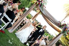 Outdoor ceremony canopy style, would need different colors