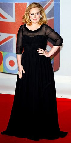 Adele in Burberry at the 2012 BRIT Awards, February 2012