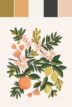 citrus floral print from leif [color palettte via stylze]