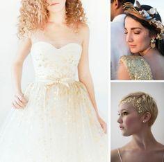 Gold Foil Wedding Details | SouthBound Bride