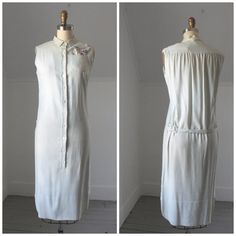 1960's linen tshirt shift by SchoolofVintage on Etsy