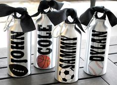 Aluminum Water Bottle Soccer Baseball Basketball Tennis Dance Gymnastics Team Theme   Your Team Colors   Any Sport Can Be Done on Etsy, $8.89