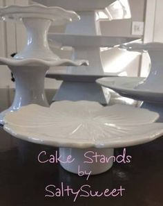 cake stands...lots of cake stands